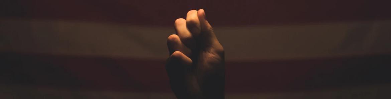 hand american flag